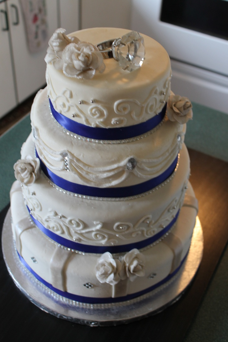 silver and royal blue wedding cakes royal blue and silver cake cake decorating 19853