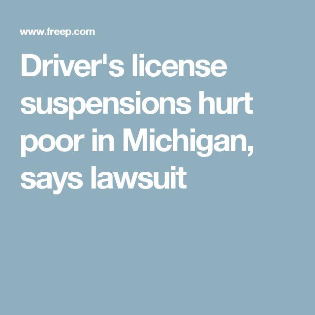 Driver's license suspensions hurt poor in Michigan, says lawsuit