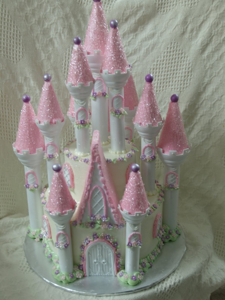 Becky's Sweets: Princess Castle Cake How to Photos
