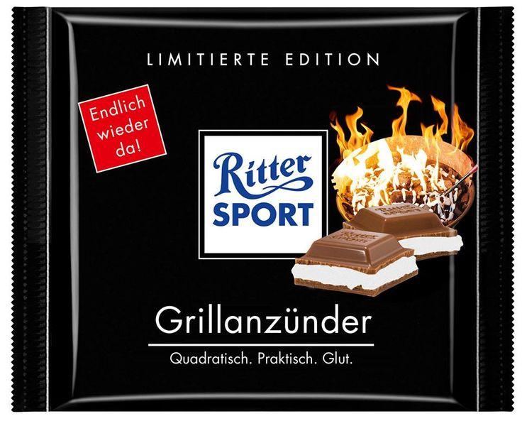 RITTER SPORT Fake Schokolade Grillanzünder (von bjoernk)