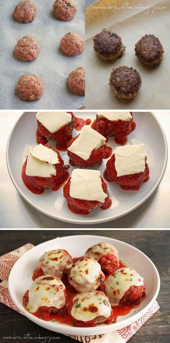 Low Carb Meatballs alla Parmigiana