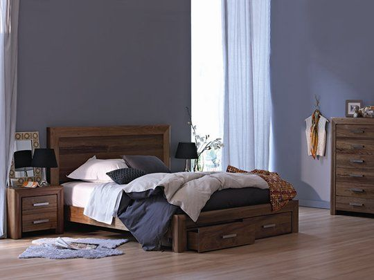Como Bed Frame: Queen Bed Frame (Drawers) SNOOZE