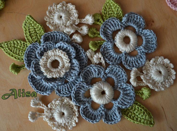 Pinterest Flowers: Irish Crochet Flower Motif