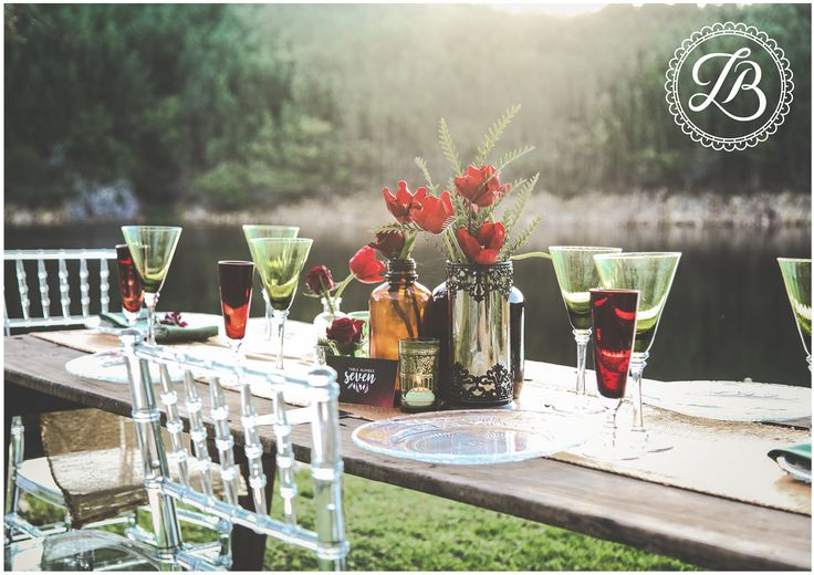 We designed the stationery for this Bohemian Styled Shoot.  hello@theheartfeltcollection.co.za  │wedding ideas │earthy │autumn colours │red │green │orange │outdoor │table │paper │grapic design │maroon │flowy font │stationery │seating plan │table numbers │sky │nature │rustic │vintage │boho │glasses │colored glass │flowers │beautiful │view│inspiration│slay│