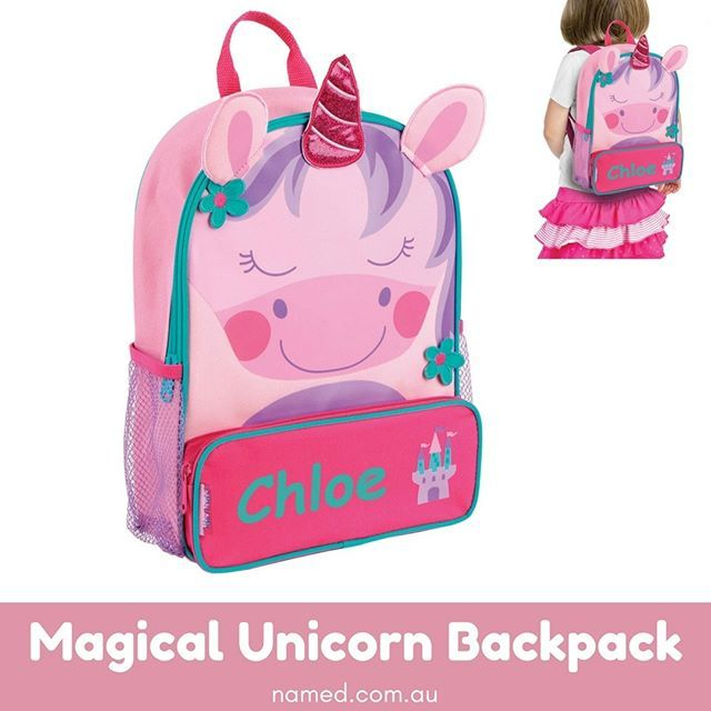 As your child starts to carry her own toys or school supplies with her, she'll need something to carry them in.    With its personalised touch of the child's name on the front, you can be certain that you'll always grab the right bag at pick-up time    Shop now at named.co.au    #Named