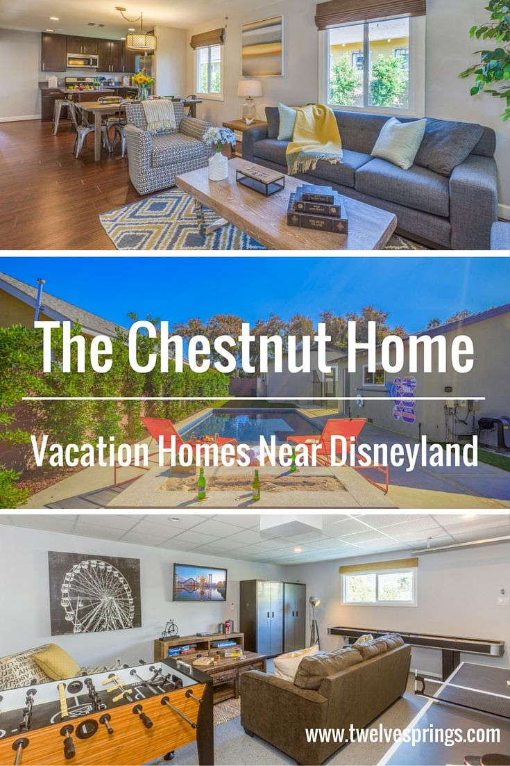 Beautiful and affordable vacation home near Disneyland. | The Chestnut Home by Twelve Springs is a 3 bedroom, 2 bathroom bungalow with a private pool, situated in Anaheim's historic district.