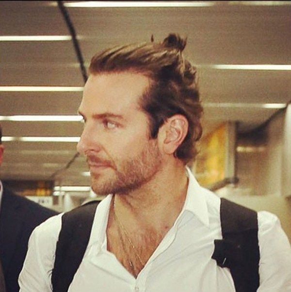 Bradley Cooper's Man Bun — Men's Fashion Blog - #TheUnstitchd
