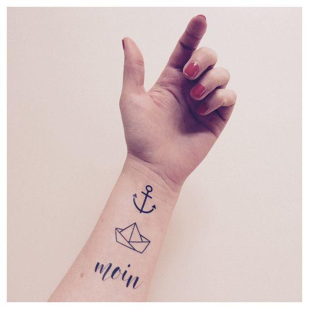 Maritime temporäre Tattoos, Anker, Segelboot, Hipster Tattoos / temporary tattoos, maritime, anchor tattoo, ink made by FONRY via DaWanda.com