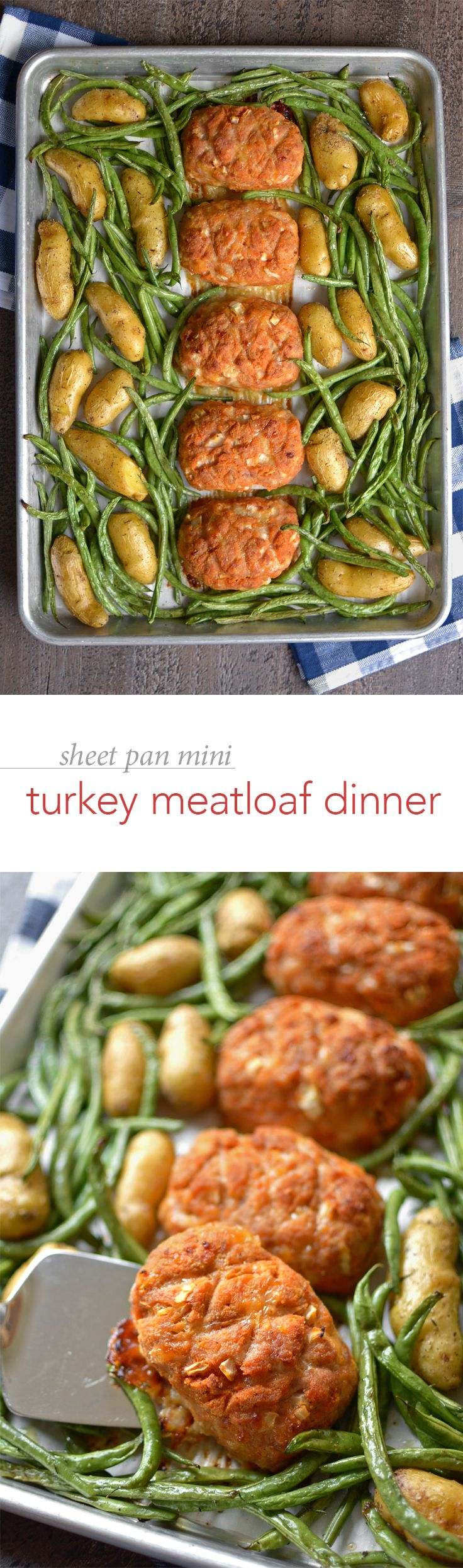 Sheet Pan Mini Turkey Meatloaf Dinner – The end of the school year means all sorts of busy craziness. Why not keep your dinner sane with this quick and easy one-pan meal!
