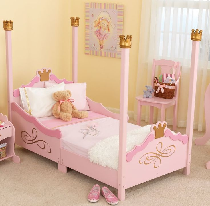 This princess bed will provide the comfort and safety your toddler deserves, all while showing you how much of a princess she truly is.