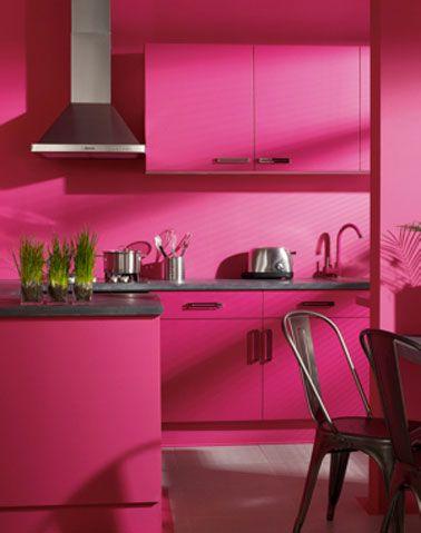 Quelle couleur avec une peinture rose dans chambre salon - Peinture cuisine rose ...