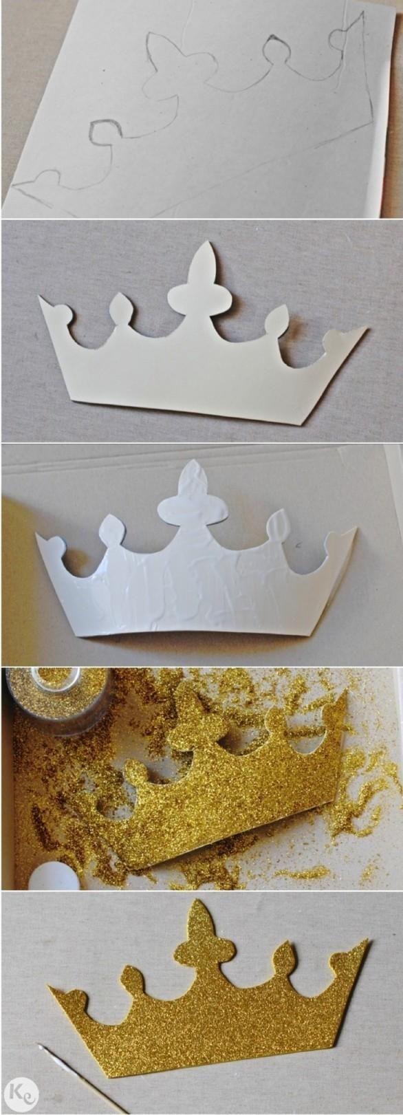 Corona de purpurina para accesorio del photocall