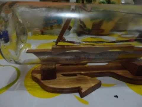 Barco de Madera en Botella(tutorial)