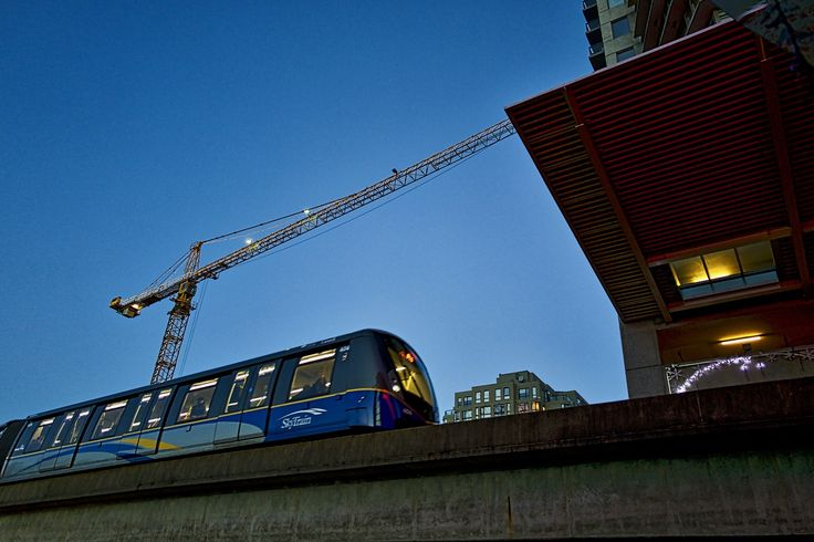 SkyTrain enters New Westminster station.  Click image to enlarge.