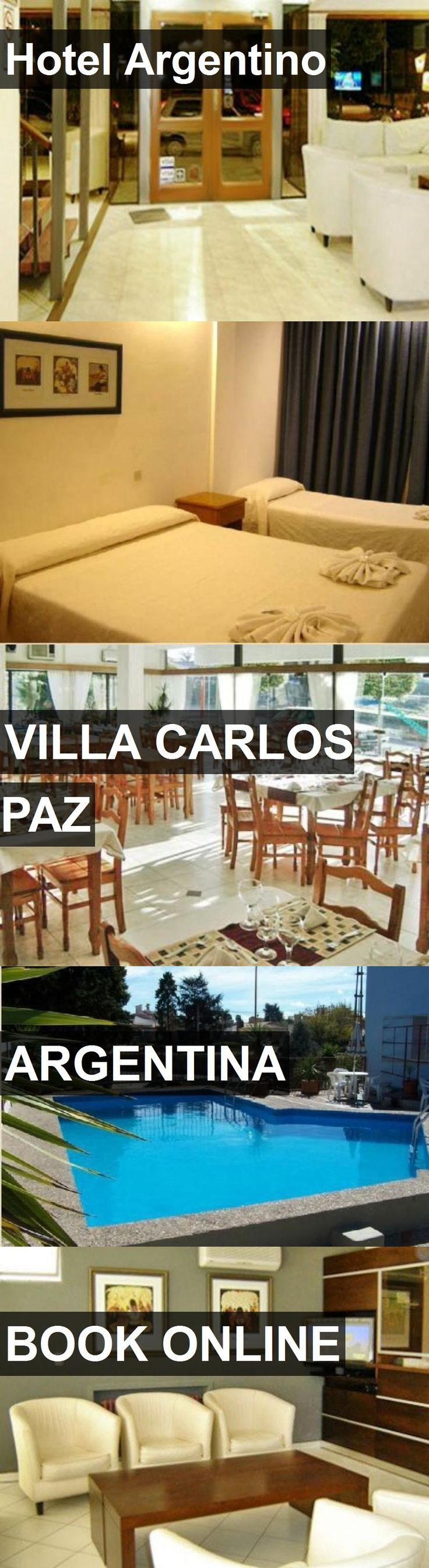 Hotel Argentino in Villa Carlos Paz, Argentina. For more information, photos, reviews and best prices please follow the link. #Argentina #VillaCarlosPaz #travel #vacation #hotel