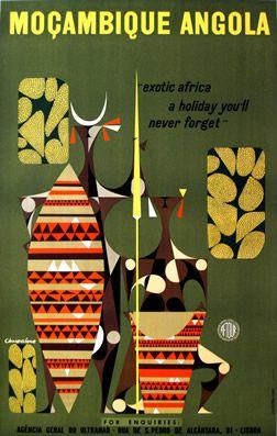 Travel poster: Moçambique Angola 1958