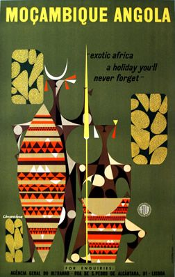 Travel poster: Moçambique Angola 1958