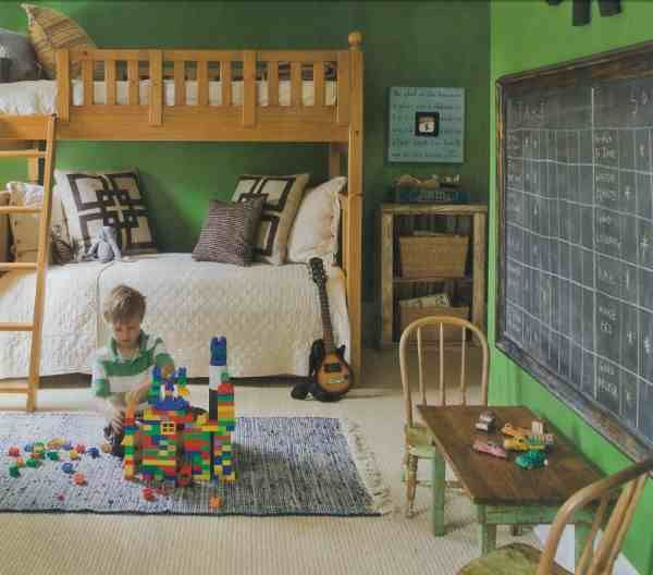 boys bedroom: Wall Colors, Green Wall, Boys Bedrooms, Boys Rooms, Boy Rooms, Chalk Boards, Bunk Bed, Chalkboards Wall, Kids Rooms