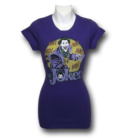Images of Joker Ho! Ha! Purple Women's T-Shirt