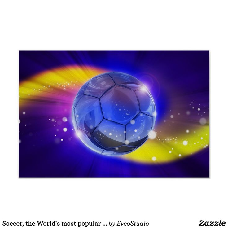 Soccer, the World's most popular sport Poster
