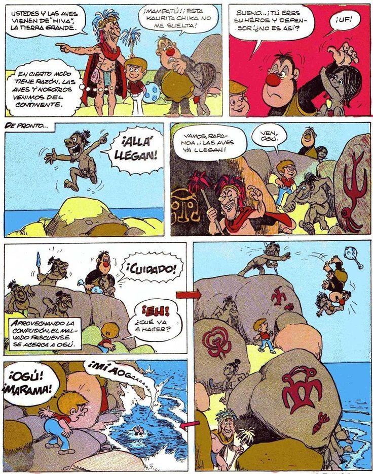Los comics de Machete: Mampato y Ogú en Rapanui