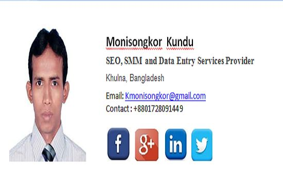 For only $5, I will create professional clickable  HTML Email Signature. | HI, welcome my gig, I am Monisongkoe Kundu. Are you looking for a professional HTML Email signature? You are at the right place. I will | On Fiverr.com