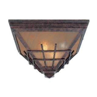 """Check out the Designers Fountain 30725-MP Oak Park 12"""" 2 Light Outdoor Flush Mount in Mediterranean Patina priced at $99.00 at Homeclick.com."""