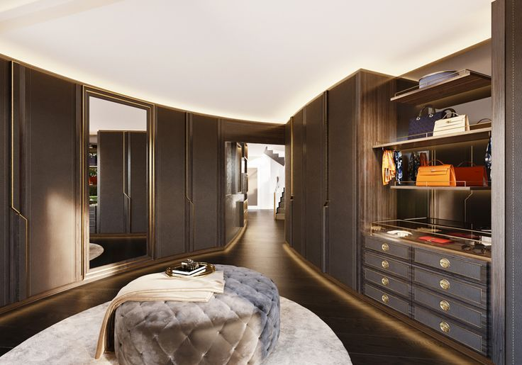 Walk-in closet | JEANNET | Apartment Zurich - Explore our apartment project in Zurich