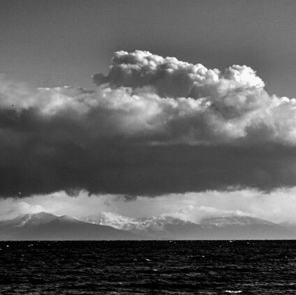 Snowy Evia. Greece.