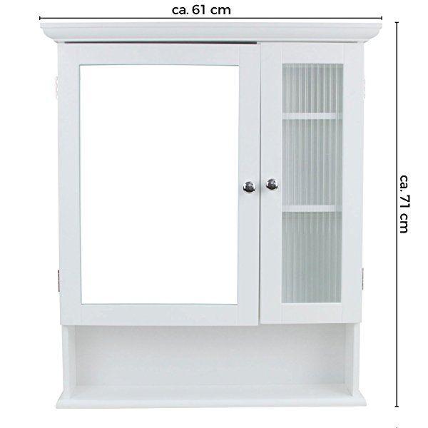 1plus Landhaus Badezimmerschrank Spiegelschrank Hangeschrank Mit 2