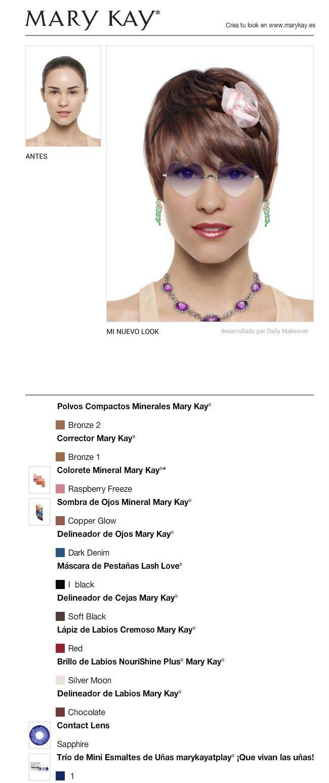 Acabo de crear un cambio de look GRATIS con el Maquillaje Virtual Mary Kay®. ¡Pruébalo tú misma y compártelo con todos tus amigos!