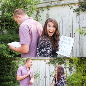 Announcing pregnancy to husband....absolutely love this                                                                                                                                                       More