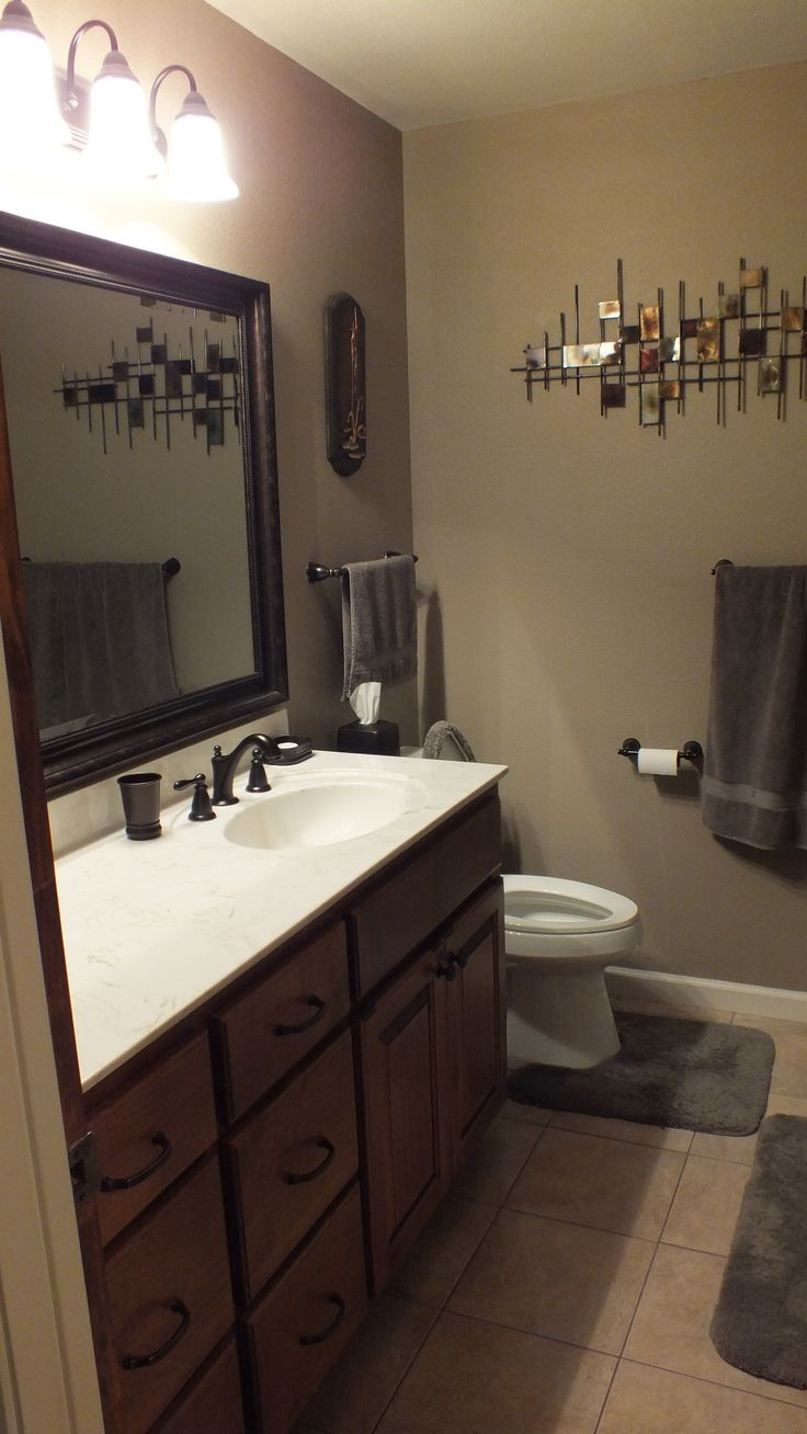 Vanity In Burnt Almond Oil Rubbed Bronze Fixtures