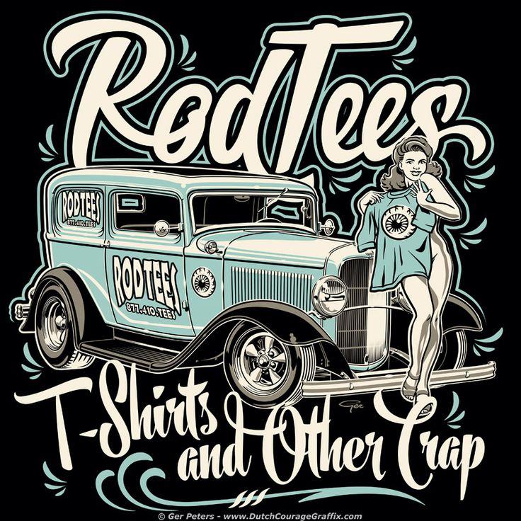 RodTees T-shirt #hotrod #hot #rod #wear #tshirt #logo # ...
