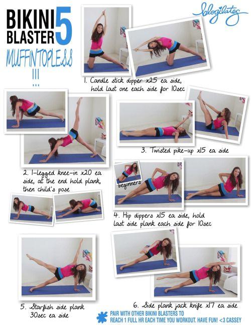 Bikini Blaster, muffin topless, blogilates