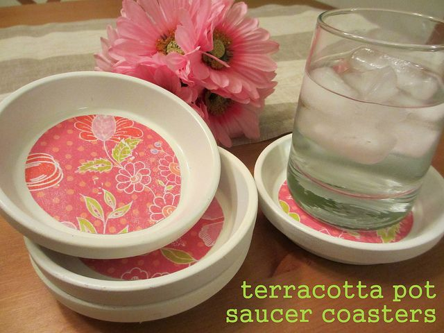 Coasters.Diy Coasters, Beach House, Crafts Ideas, Terra Cotta, Pots Saucer, Terracotta Can, Saucer Coasters, Flower Pots, Terracotta Coasters
