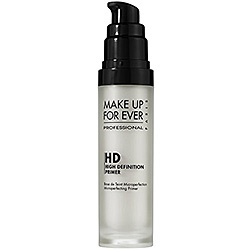 MAKE UP FOR EVER - HD Microperfecting Primer...My must have, no matter what the job is. Literally makes your skin feel like velvet, and anything you put on top of it looks incredible. Worth its weight in gold in my opinion :).