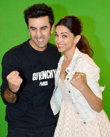 Ranbir Kapoor with Deepika Padukone