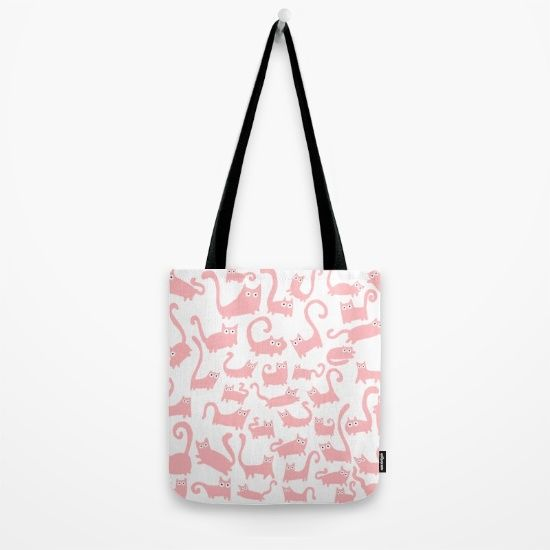 Pink Cats Tote Bag