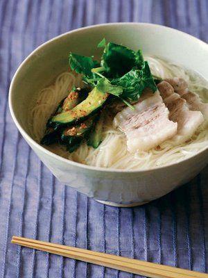 美味しそう!【ELLE a table】塩豚そうめんレシピ|エル・オンライン