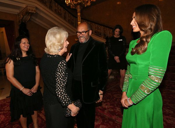 Camilla Parker Bowles Photos - Bruce Oldfield is greeted by Camilla, Duchess of Cornwall during  the Bruce Oldfield Fashion Show at Lancaster House in support of the National Osteoporosis Society on November 15, 2017 in London, United Kingdom. - The Duchess of Cornwall Attends the Bruce Oldfield Fashion Show in Aid of the National Osteoporosis Society
