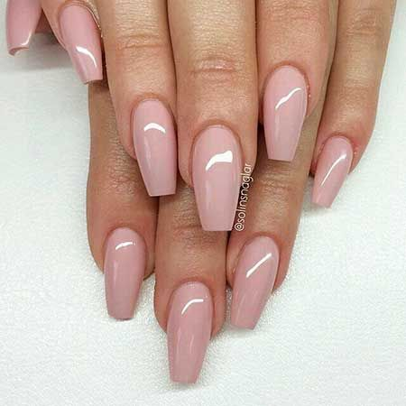 13-light pink nail design 2017