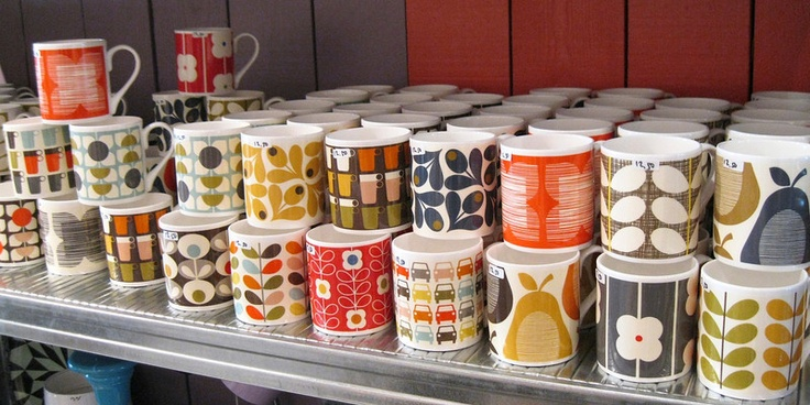 Lots and lots of Orla Kiely mugs...    picture: Patricia Steen.