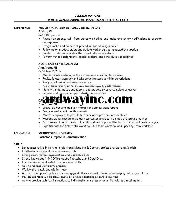 Call center analyst resume sample call center verbal