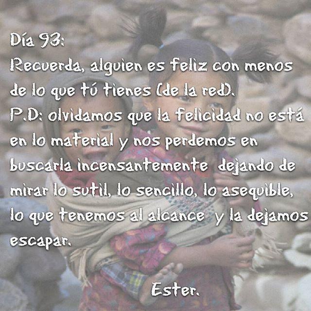 Día 93 #día93 #Ester #2016 #felicidad #minimalísmoemocionalsensato  #dejamosescapar
