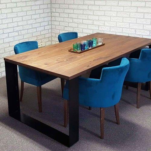 Industriële tafel York is ideaal als vergadertafel