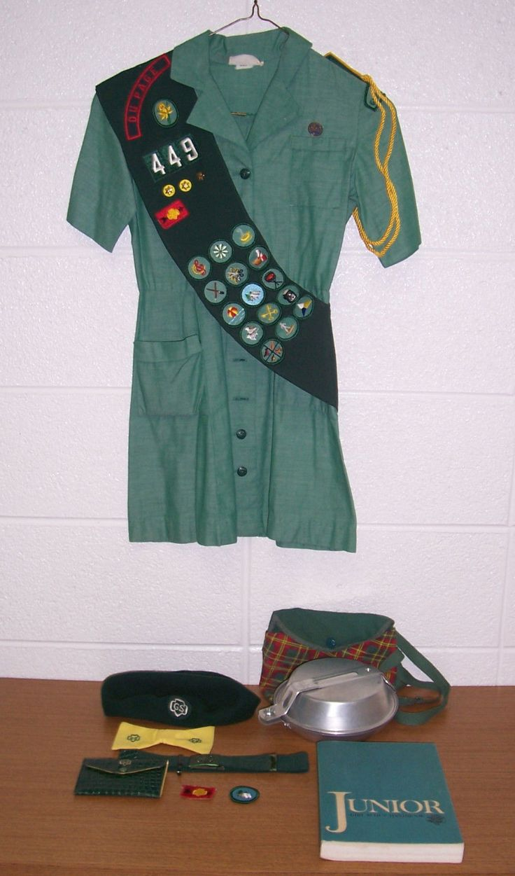 1960s Girl Scout Uniform and mess kit
