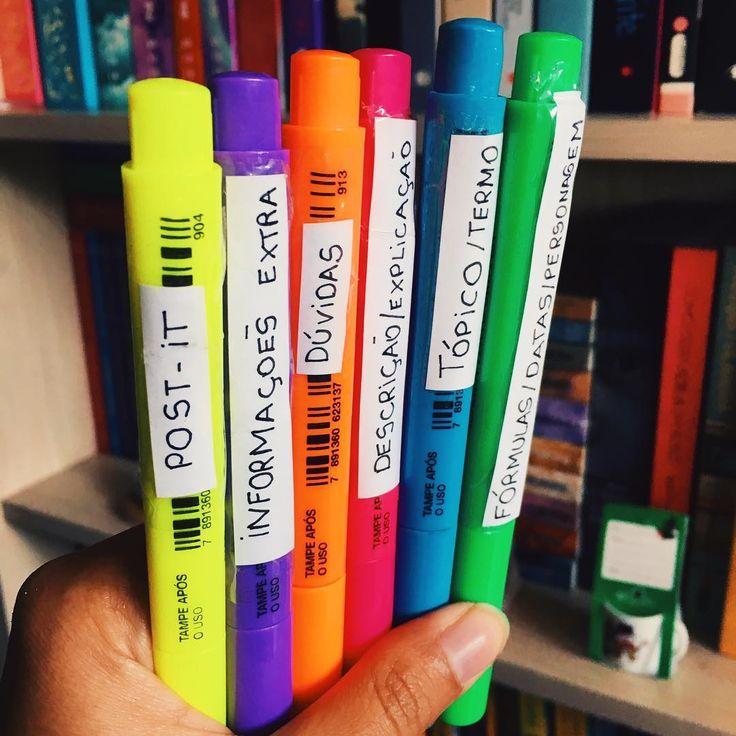 """869 curtidas, 24 comentários - Carolina Castro (@falacarol) no Instagram: """"Dica para usar marca-texto (ou qualquer coisa colorida) para estudar! Estabeleça elementos…"""""""