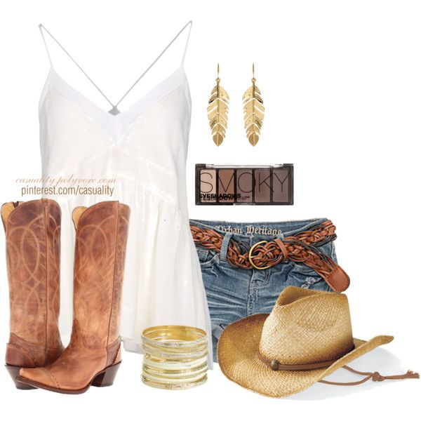 """Worn Shorts & Cowgirl Looks"" by casuality on Polyvore"
