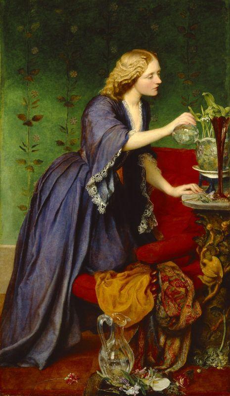 Jane Elizabeth ('Jeanie') Hughes, Mrs Nassau Senior, by George Frederic Watts, 1857-8